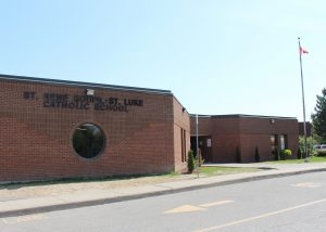 exterior of St. Rene Goupil - St. Luke school building